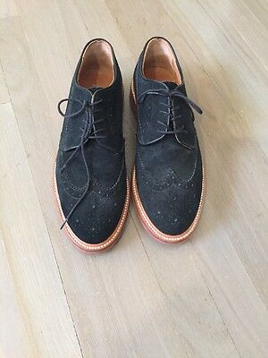 J Crew Black Suede Oxford Tie Up Shoes Size 9 1/2