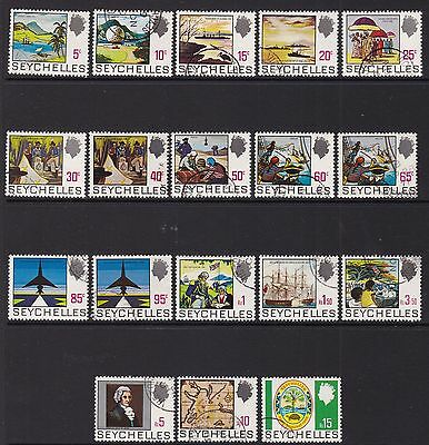 Seychelles 1969-75 Definitive Set, Fine Cds Used, Cat £48