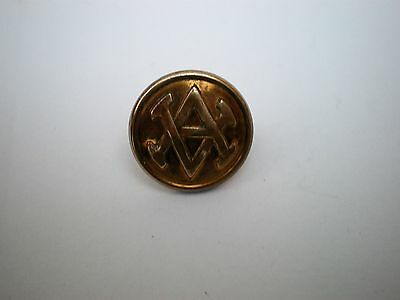 Vintage / Antique AV AA VA Initial / Monogram / Livery Brass Blazer Button 17mm