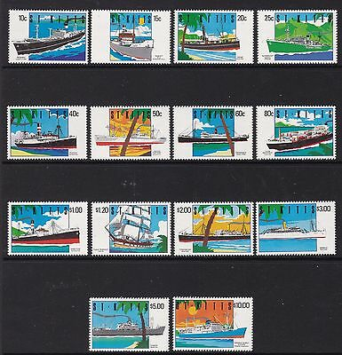 St Kitts 1990 Ships Set, Unmounted Mint, Cat £27