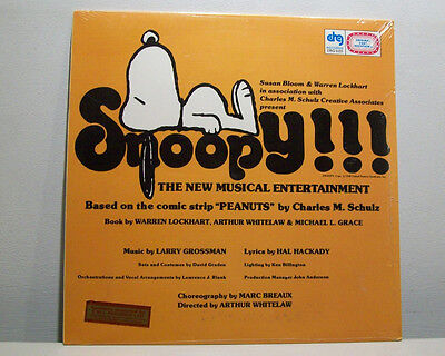 SNOOPY!! LP still SEALED USA pressing DRG peanuts CHARLIE BROWN larry grossman