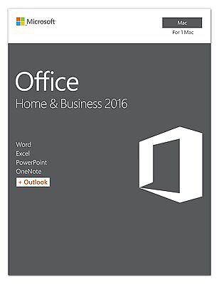 Microsoft Office 2016 Home and Business for Mac - Licence / Product Key