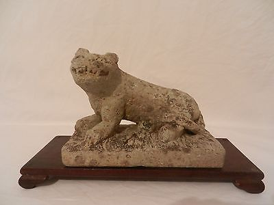 Ancient Chinese Han Dynasty stone carved lion weight