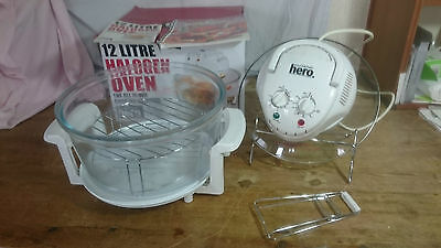 12 Litre White Halogen Convection Oven Cooker With Kitchen Accessories