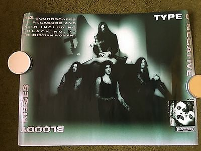 Rare Type O Negative Bloody Kisses Promotional Poster