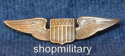 VINTAGE WWII U.S. ARMY AIR FORCE USAAF PILOT STERLING SWEETHEART PIN inv 5955