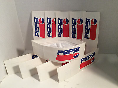(10) Pepsi 1991-1996 Soda Jerk Fountain Paper Hat. New Old Stock. 20-25 Yrs Old