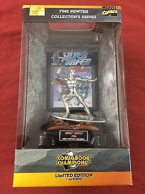 Marvel Comic Book Champions SILVER SURFER Pewter Statue New