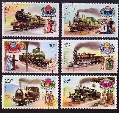 WORLD-1973 LOCOMOTIVES Liberia Used Set