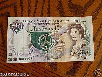 Isle of Man £10 pounds bank note Shimmin  R255051
