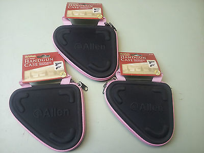 "Lot of 4 Allen Pink Molded Foam Construction 6."" Handgun Case Dual Zipper 81-65"