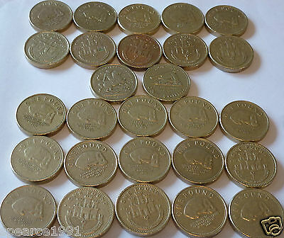 Various Gibraltar £1 Pound Coin Your Choice Of Year Coin Hunt