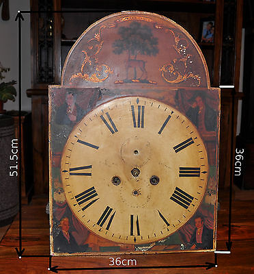 Antique 19th C. Longcase Grandfather Clock Movement Dial Bell (1093)