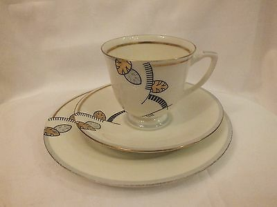 Stunning Royal Doulton Trio IONA 1930s Art Deco Rare Cup Saucer Plate Vintage Gr