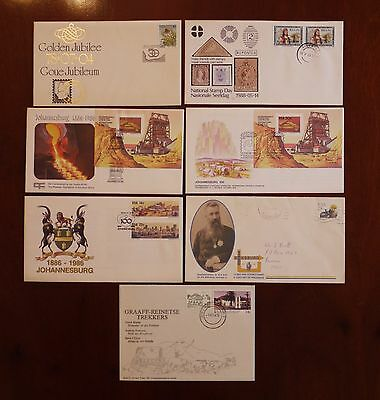 South African stamp exhibition covers 6 + 1 other