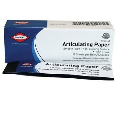 Dental Articulating Paper Extra Thin, Blue 12 books x 12 Sheets =144 9501454
