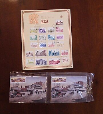 South Africa 1982 Definitives on FDC plus postcards