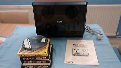 Akai 4000DS  Reel to Reel Stereo Tape Deck Recorder + Dust Cover + Manual