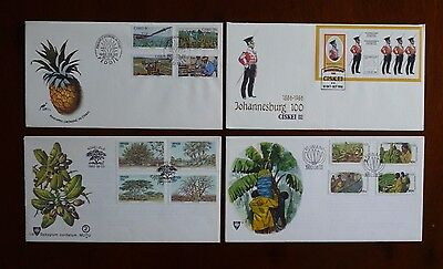 South Africa homelands four first day covers