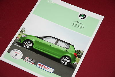 Skoda Fabia Technical Specification & Price List Brochure 2011 - MINT CONDITION