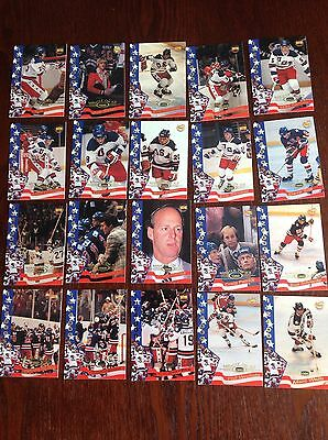 41 Cards From Miracle On Ice Collection USA Olympic Games