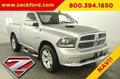 2014 Ram 1500 Sport 4x4 5.7L V8 Automatic 4WD Moonroof Leather Navigation Tow Package Reverse Cam MP3 CD