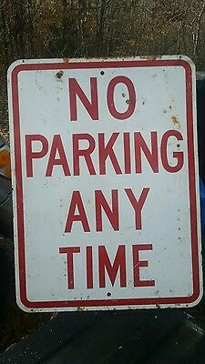Used No Parking Street Sign