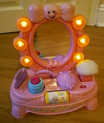 Fisher Price Laugh and Learn Magical Musical Mirror girl vanity table toy pink