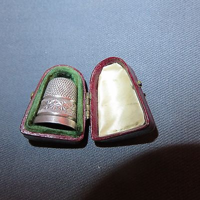 A Cased Charles Horner Silver Thimble -Dated 1908