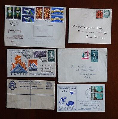 South Africa six Xmas stamps and commemorative covers