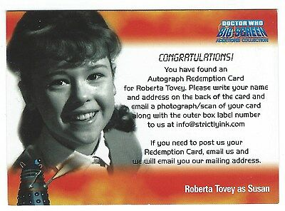 Doctor Who Big Screen Additions Roberta Tovey Redemption Card Strictly Ink 2008