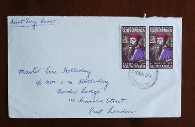 South Africa 1964 Calvin pair on first day of issue cover