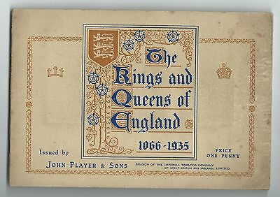 The Kings And Queens Of England 1066-1935 John Player & Sons Cigarette Cards
