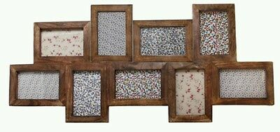 Sass and Belle Vintage Shabby Chic Large Dark Wood Multi Collage Photo Frame
