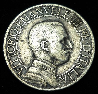 + Italy 1910 Lira.  World - Foreign Silver Coin. Free Shipping!