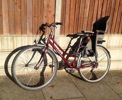 bicycle with rear child seat