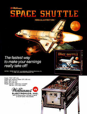 Williams pinball Space shuttle system 9 cpu chip set