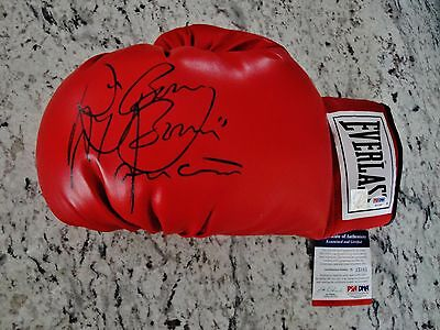 Ray Boom Boom Mancini Signed Laced Everlast Glove Psa/dna Authenticated