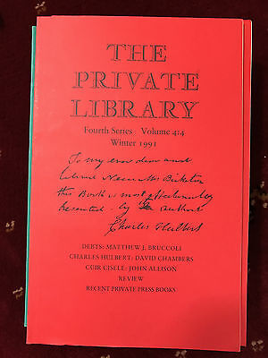 The Private Library 4th Series Vol.4:4 1991