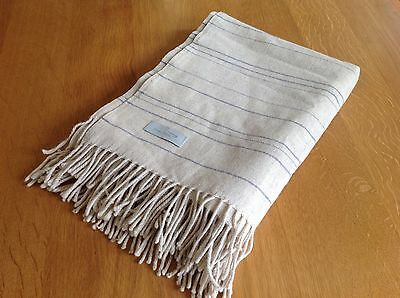 British Airways CONCORDE blanket BEIGE with blue stripe