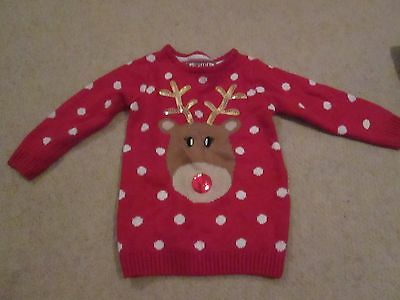 Girl's Young Dimension Christmas Jumper Age 2-3 Years