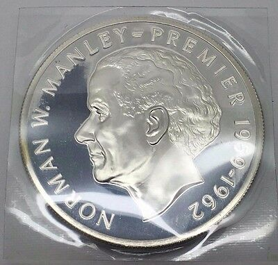 1974 Jamaica Silver Proof 5 Dollars Coin