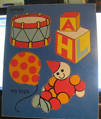 Vintage Playskool My Toys puzzle #155-13 ages 2  - 4 years  with 4 pieces