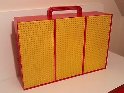 Vintage Lego 3 Bay Storage Carry Case With 9 Compartments