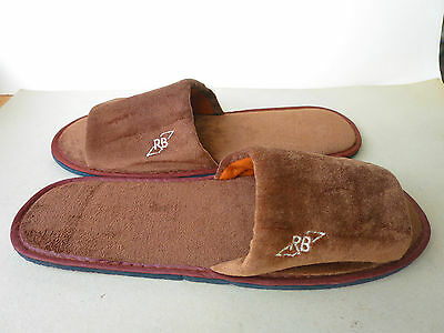 ROYAL BRUNEI Business class Unused Brown  SLIPPERS