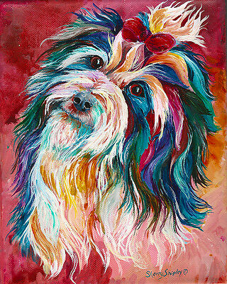 HAVANESE 8X10 DOG print by Artist Sherry Shipley