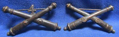 WWI 4th Field Artillery Officer Insignia Lot Of 2