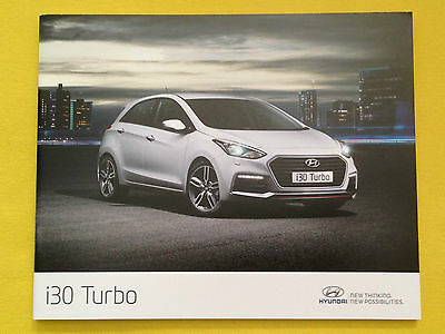 Hyundai i30 Turbo official dealer marketing paper brochure August 2015 MINT i 30