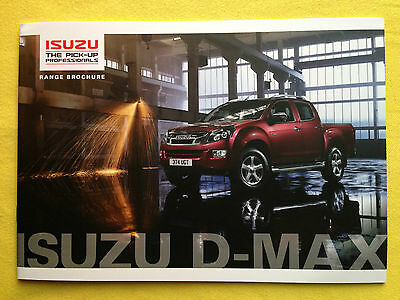 Isuzu D-Max official paper marketing brochure & price list 2014 MINT DMax 4x4