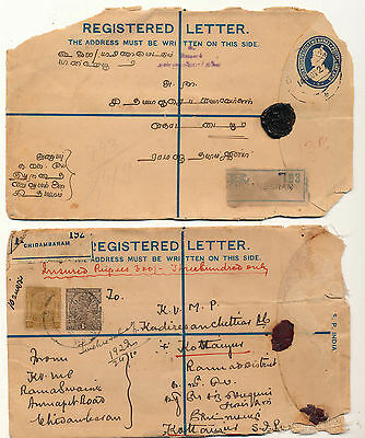India, Postal History Registered Letters